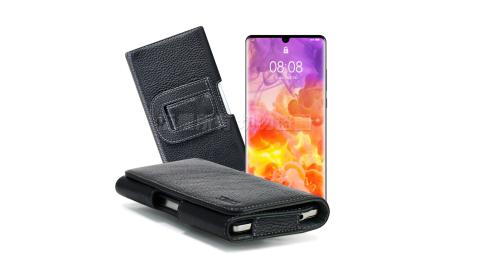 Xmart for 華為 HUAWEI P30 Pro/HTC U19e 麗緻真皮腰掛皮套