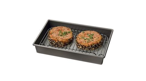 《KitchenCraft》Chicago附架+不沾烤盤(24.5cm)