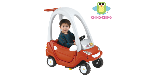 【親親】紅色二次料全配滑步嘟嘟車(CA-11R)