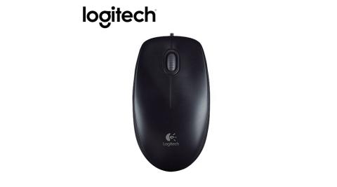【logitech 羅技】M100r 有線光學滑鼠-黑色