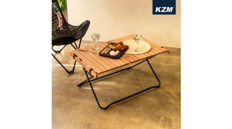 【KAZMI】KZM 原木蛋捲桌 桌子 露營桌 90公分