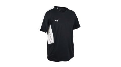 MIZUNO 男短袖T恤-吸濕排汗 抗UV 咖啡紗 台灣製 慢跑 美津濃 黑白@32TA101009@