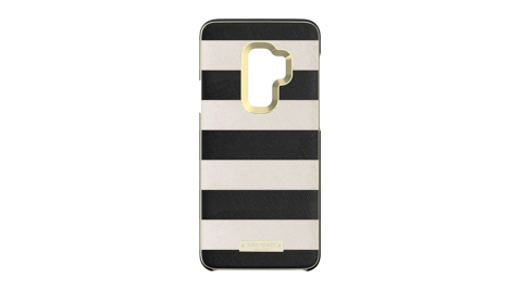 SAMSUNG Galaxy S9+ Kate Spade 原廠黑白條紋硬殼背蓋 (台灣公司貨)