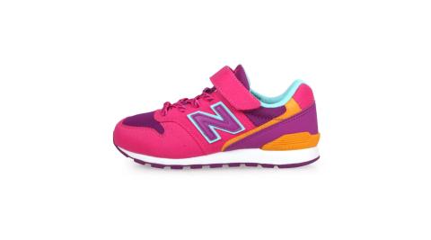 NEWBALANCE 男女童復古慢跑鞋-WIDE-寬楦 麂皮 NB 996 桃紅紫橘藍@YV996TMG@