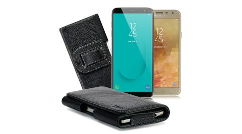 Xmart for Samsung Galaxy J4 / J6 麗緻真皮腰掛皮套