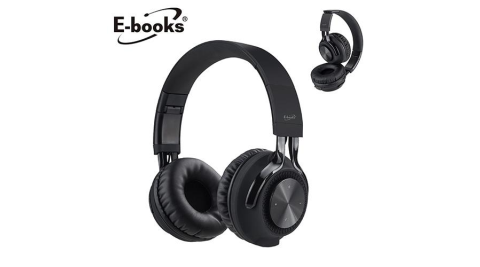 E-books SS29 藍牙經典款摺疊耳罩式耳機 黑