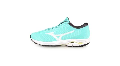 MIZUNO WIDE RIDER WAVEKNIT 3 女慢跑鞋-美津濃 湖水綠白@J1GD192902@