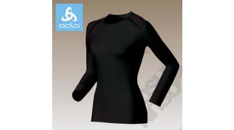 【瑞士 ODLO】warm effect 女機能型銀離子圓領保暖上衣.內衣.長袖衛生衣.內搭衣.保暖內著/黑 152021