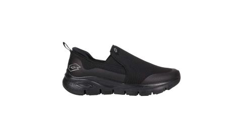 LOTTO 男透氣健步鞋-走路鞋 懶人鞋 反光 黑銀@LT1AMR3520@