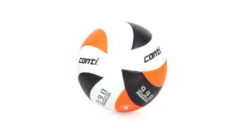conti 5號頂級超世代橡膠排球 橘黑白@V990-5-WBKO@