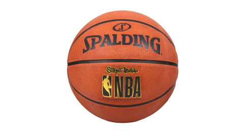 SPALDING STREET RUBBER 籃球 #7-室外 7號球 運動 斯伯丁 暗橘黑金@SPA73799@