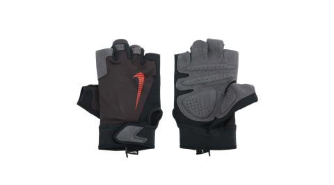 NIKE 男終極健身手套-重量訓練 半指手套 黑橘@NLGC2074XL@