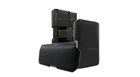 魅力紳黑 iPhone/HTC/ASUS/OPPO/三星/SONY/華為 6吋~6.5吋旋轉磁扣手機腰包皮套