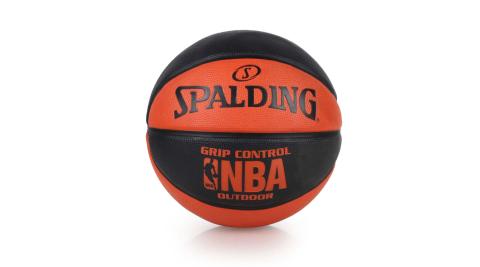 SPALDING NBA GRIP CONTROL OUTDOOR戶外籃球 黑橘@SPA83081@
