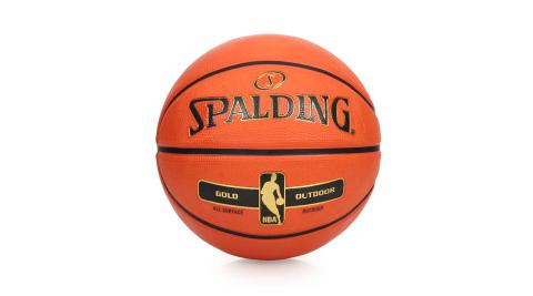 SPALDING NBA-RUBBER 金色籃球 -7號球 室外 戶外 耐磨 斯伯丁 橘金@SPA83492@