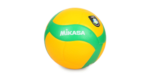 MIKASA 歐冠專用比賽用排球#5-5號球 CEV指定球 黃綠@KMV200WCEV@