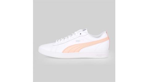 PUMA SMASH WNS V2 L 女運動休閒鞋-皮革鞋面 白粉橘銀@36520814@