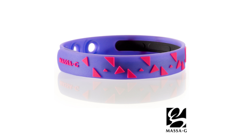MASSA-G【Rhythm韻律-炫紫】鍺鈦能量舒壓手環