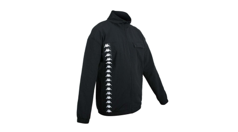 KAPPA 男平織外套-立領 吸濕排汗 慢跑 路跑 運動 黑白@3117D7W-BZB@