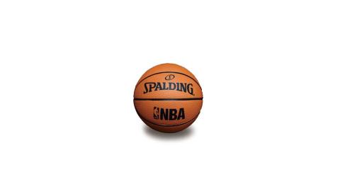 SPALDING NBA 一號籃球 迷你小球-斯伯丁 NBA 戶外 橘黑@SPA66995@