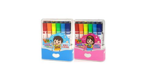 成功 可水洗印章彩色筆12色2入 通過ST玩具檢驗 1263