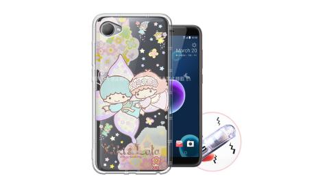 三麗鷗授權KiKiLaLa雙子星 HTC Desire 12 甜蜜系列彩繪空壓殼(蝴蝶)有吊飾孔