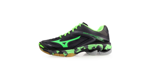 MIZUNO WAVE LIGHTNING Z3 男排球鞋-美津濃 黑綠@V1GA170035@