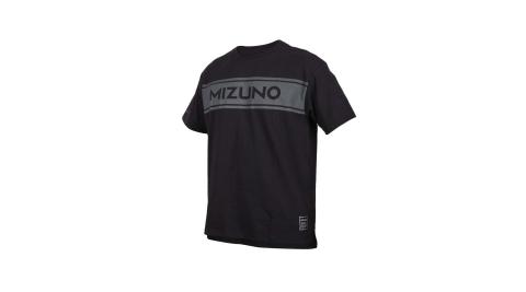 MIZUNO 男1906系列短袖T恤-台灣製 休閒 慢跑 美津濃 黑灰@D2TA000309@
