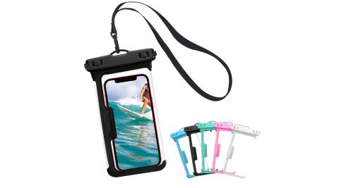 CITY 無邊框美型全景式 25M防水 6.7吋以下手機防水袋 防水等級IPX8-黑色