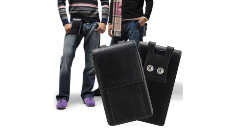 Achamber iPhone 12 / iPhone 12 Pro / iPhone 12 Pro Max 酷炫通用型腰掛皮套-可裝兩支手機