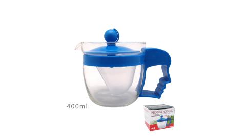 鍋霸 輕巧玻璃泡茶壺400ml H-0939 超值2入