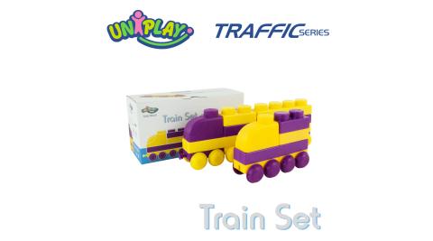 UNIPLAY抗菌軟積木 交通系列 火車組
