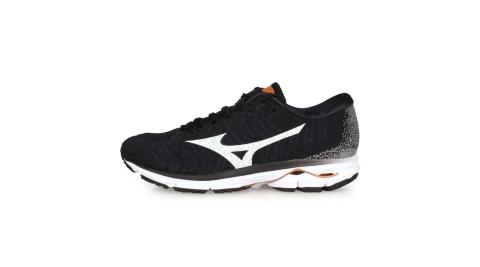 MIZUNO WAVE RIDER WAVEKNIT 3 男慢跑鞋-美津濃 黑白灰@J1GC192901@