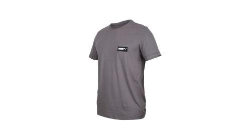 PUMA 男基本系列短袖T恤-慢跑 純棉 休閒 亞規 鐵灰黑白@58268744@