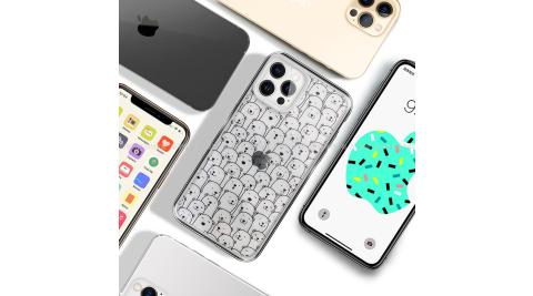 MOOTUN for iPhone 12 / 12 Pro 6.1 防護晶透保護殼 -滿版線條熊熊