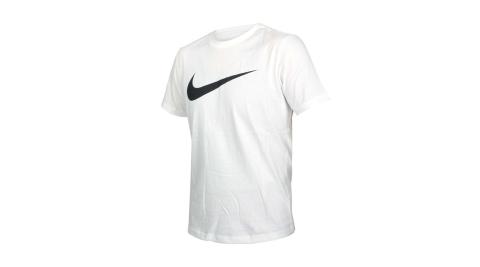 NIKE 男短袖T恤-純棉 休閒 慢跑 路跑 運動 上衣 白黑@DC5095-100@