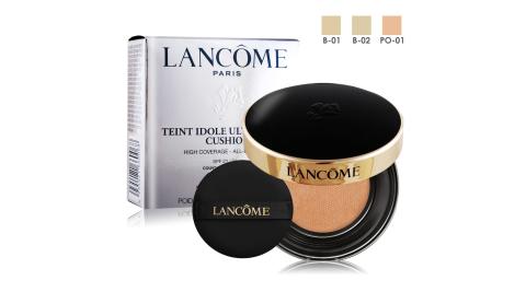 LANCOME 蘭蔻 零粉感超持久氣墊粉餅 SPF23/PA++(14g)多色可選含粉盒-百貨公司貨