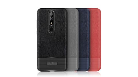 VXTRA Nokia 5.1 Plus / X5 防滑手感皮紋 軟性手機殼