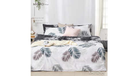 《DUYAN 竹漾》天絲絨單人床包枕套二件組- 新月森林