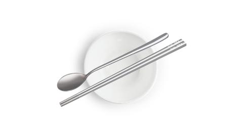 丹露 304不鏽鋼方形防滑筷湯匙組(6入) S304-235205