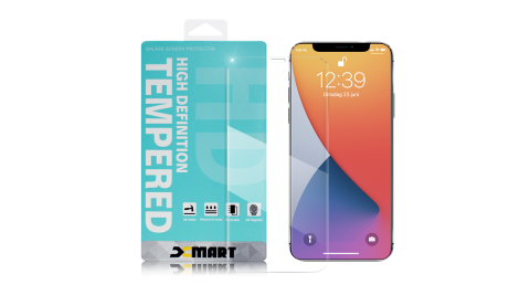 Xmart for iPhone 12 Mini 5.4吋 薄型 9H 玻璃保護貼-非滿版-2入組