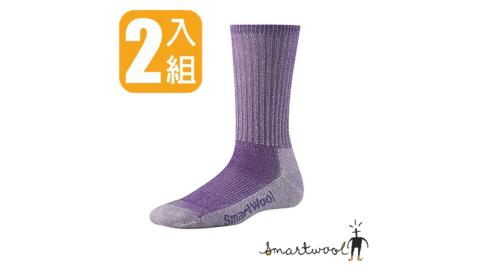 【美國 SmartWool】女 健行薄羊毛襪.戶外襪.排汗襪.休閒襪.保暖襪. 彈性尼龍/紫 SW293-532(2雙)