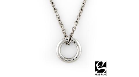 MASSA-G 【能量之環】金屬鍺錠純鈦項鍊