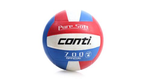 conti 4號球 超軟橡膠排球-排球協會指定用球 藍紅@V700-4-RWB@