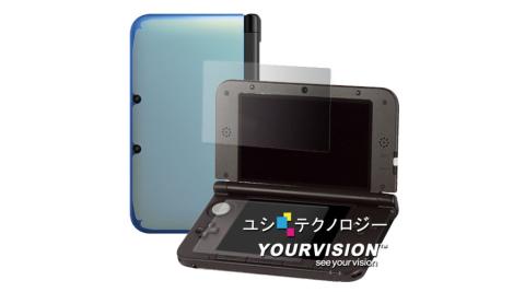 3DSLLXL上下亮面螢幕貼機身膜贈布