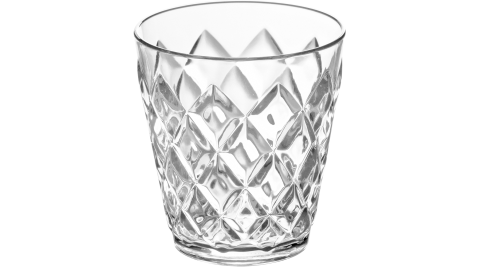 《KOZIOL》菱格晶透杯(透200ml)