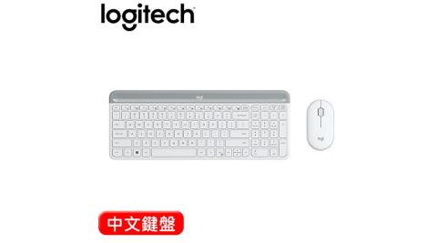 Logitech 羅技 MK470 超薄無線鍵盤滑鼠組 珍珠白