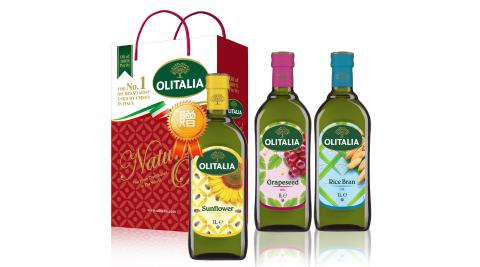 【Olitalia奧利塔】義大利玄葡禮盒1組贈葵花油1000mlx1瓶