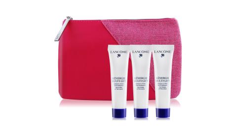LANCOME 蘭蔻 超緊顏5D太空乳霜面膜(15ml)X3加贈時尚化妝包