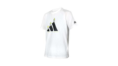 ADIDAS 男短袖T恤-亞規 純棉 慢跑 路跑 休閒 上衣 愛迪達 白黑綠@GN7321@